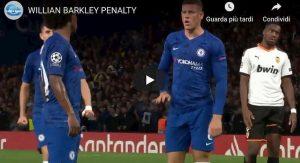 Chelsea Barkley rigore video YouTube scippato Jorginho Willian