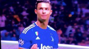 Cristiano Ronaldo gesto Atletico Juventus tifosi avete avuto paura eh?