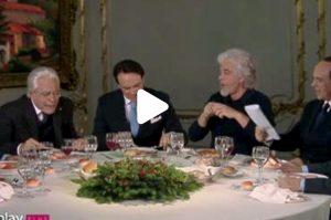 """Crozza-Conte alla cena coi politici sfotte Salvini: """"Io gli tasso anche i mojito"""" VIDEO"""
