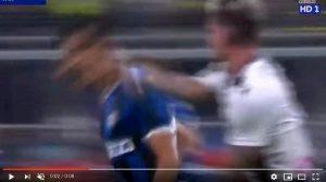 De Paul Inter Udinese espulsione var video youtube