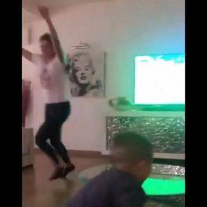 dzeko esulta dopo gol