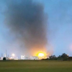Sannazzaro de' Burgondi, esplosione nella raffineria Eni