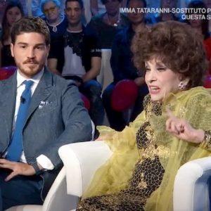"""Domenica In, Gina Lollobrigida difende Andrea Piazzolla: """"Dei miei soldi faccio quello che voglio"""""""