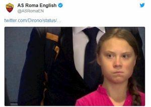 Roma-Atalanta, De Roon sbeffeggia i giallorossi su Twitter che rispondono con Greta Thunberg