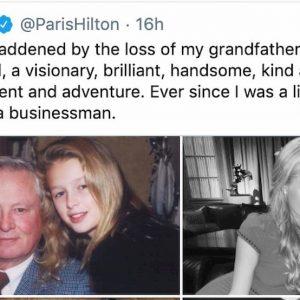 Paris Hilton in lutto per il nonno Barron Hilton