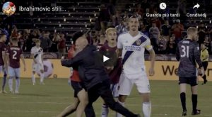 Ibrahimovic calmo succede tutto video YouTube Los Angeles Galaxy