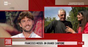 """Storie Italiane, Francesco Moser al figlio e Cecilia Rodriguez: """"Vengano a occuparsi delle vigne"""""""