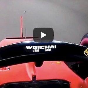 Leclerc pole Singapore video YouTube giro filmato