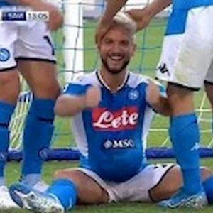 Mertens esultanza Katrin Kerkhofs incinta Napoli Sampdoria