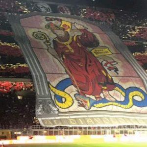 Milan Inter striscioni coreografie foto derby Curva Nord Sud