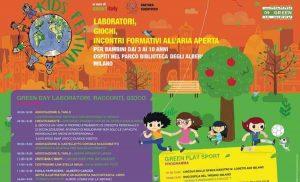 Milano Kids Festival: domenica 29 settembre al Parco Biblioteca degli Alberi bambini su ambiente e cyber bullismo