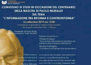 """""""Informazione tra riforma e controriforma"""": convegno il 16 settembre alla Fondazione Murialdi"""