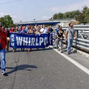 Protesta dei lavoratori Whirlpool