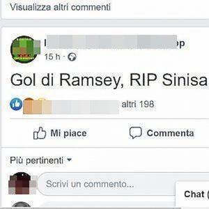 Pagina Facebook insulta Mihajlovic leucemia Bologna denuncia tutto polizia postale