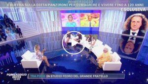 La dieta Life 120 di Adriano Panzironi ha scatenato la discussione a Pomeriggio Cinque