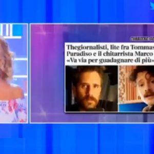 Pomeriggio 5, gaffe di Barbara D'Urso sui TheGiornalisti: il nome della band diventa...