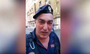 poliziotto in servizio a roma