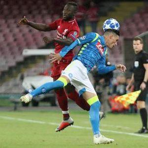 Risultato gol Napoli Liverpool Inter Slavia Praga Champions League
