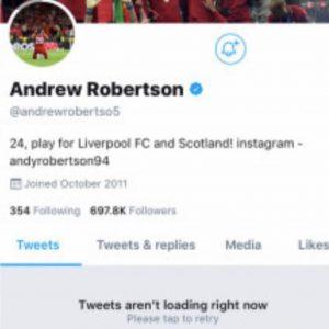 Robertson chiude Twitter Napoli Liverpool troppi insulti per rigore