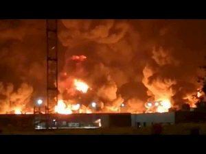Francia: enorme incendio all'impianto chimico di Rouen