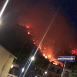 """Sarno, spento incendio sul Monte Saretto. Sindaco: """"E' doloso, ora preoccupazione per la pioggia"""""""