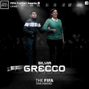 Silvia Grecco tifosa figlio cieco Fifa The Best 2019 premio