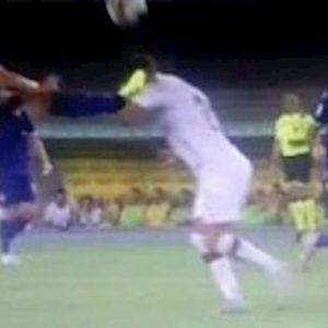 Stepinski Verona Milan espulsione var arbitro Manganiello