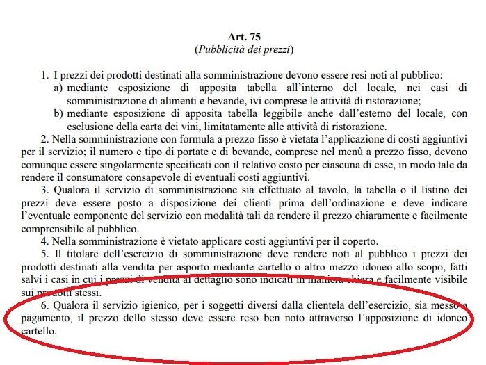 """Andare al bagno nei locali pubblici diventa a pagamento. Da Regione Lazio arriva la """"tassa sulla pipì"""""""