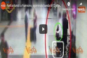 Immagini dell'impianto di videosorveglianza dell'aeroporto di Fiumicino