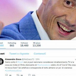 Il post di Alessandro Greco contro Barbara D'Urso