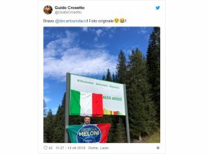 "Fratelli d'Italia oscura la scritta ""Südtirol"""