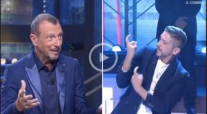 I soliti ignoti: Mauro canta i Maneskin nella lingua dei segni, Amadeus lo invita a Sanremo
