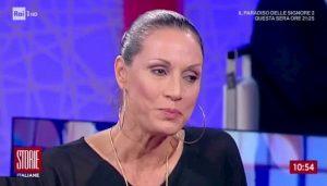 """Storie Italiane, Annalisa Minetti: """"Fabrizio Frizzi mi aiutò ad andare a Sanremo"""""""