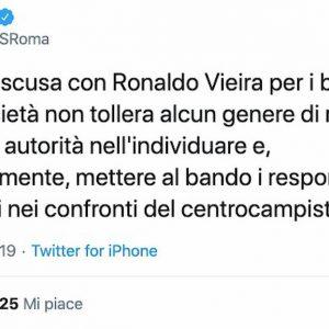 Buu razzisti Vieira Roma si scusa su Twitter prenderemo provvedimenti