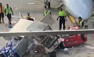 chicago, furgone viene fermato dal carrello
