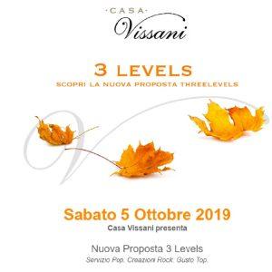 Casa Vissani nuovo menu Three Levels