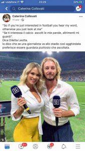 Caterina Collovati Diletta Leotta se ti vesti così è normale che...