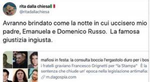 """Permessi ai mafiosi, Rita Dalla Chiesa: """"Avranno brindato come quando uccisero mio padre"""""""