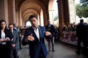 Il presidente del Consiglio, Giuseppe Conte, a Perugia all'Eurochocolate