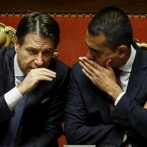 Il premier Giuseppe Conte e Luigi Di Maio (Ansa