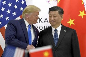 Trump e il presidente cinese Xi Jinping
