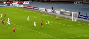 Elmas gol Macedonia Slovenia calciatore Napoli show