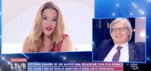 """Live Non è la D'Urso, Vittorio Sgarbi: """"Quella notte con Eva Robins e la morta..."""""""