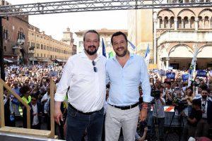 Alan Fabbri e Matto Salvini, Ansa