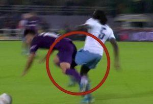 Fiorentina Lazio Lukaku Sottil fallo gol Immobile var convalida