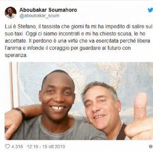 Aboubakar Soumahoro accetta le scuse dal tassista