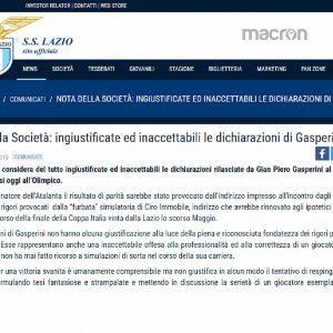 """Atalanta, Gasperini accusa la Lazio: """"Il loro comunicato è demenziale"""""""