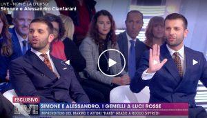 A Live - Non è la D'Urso Simone e Alessandro Cianfarani, i gemelli imprenditori eredi di Rocco Siffredi