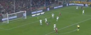 Genoa Brescia Kouame video YouTube rovesciata da urlo