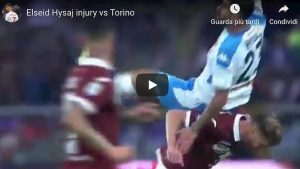 Hysaj Torino Napoli video  YouTube infortunio calciatore albanese